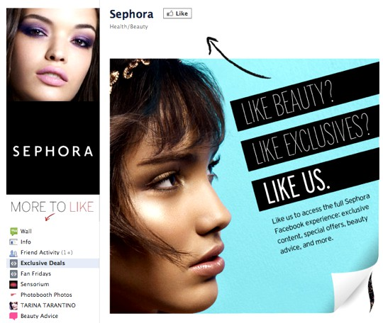 Sephora Example of Like Gating