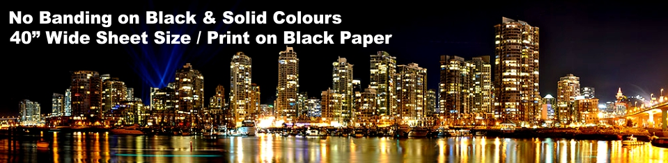 No banding on Black & Solid Colours