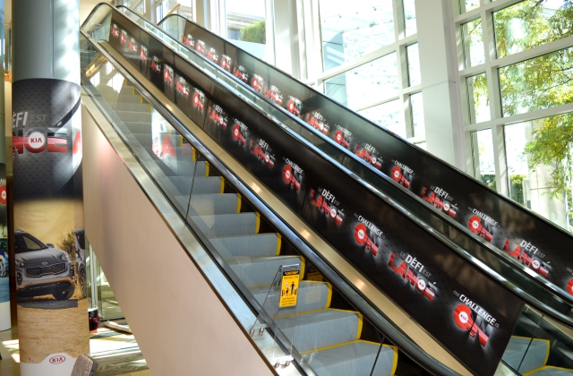 Event Promotions » Pillar & Escalator Graphics Printed on Removable Vinyl/ Custom Installation
