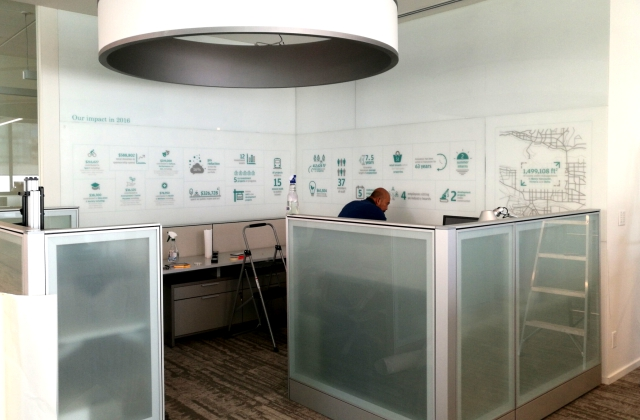 Bespoke Office & Interior Graphics » Superwide Printing on Specialty Media » Custom Installation