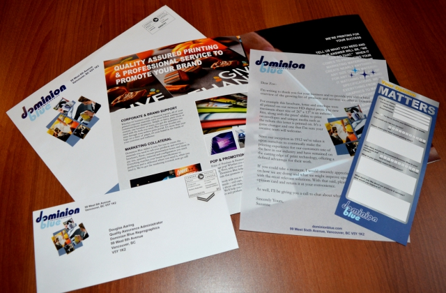 Direct Mail Campaign » Versant Colour Printing » Bindery/ Collation/ Mail Management